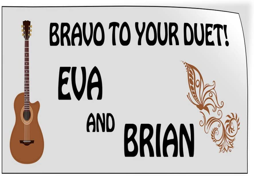 Custom Door Decals Vinyl Stickers Multiple Sizes Bravo to Your Duet Wedding Groom Bride Lifestyle Wedding Outdoor Luggage /& Bumper Stickers for Cars White 66X44Inches 1 Sticker