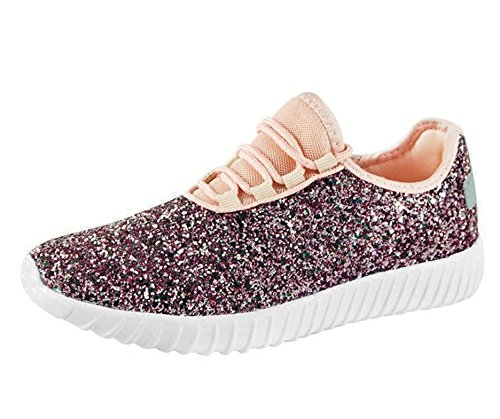 18 Glitter Up New Sneaker Lightweight Link Shoes Pink Lace Quilted Forever Remy 18 Women's SF Jogger qtw8POt