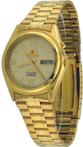 Orient #FEM6Q00BC Men's 3 Star Standard Gold Tone Champagne Dial Automatic Watch