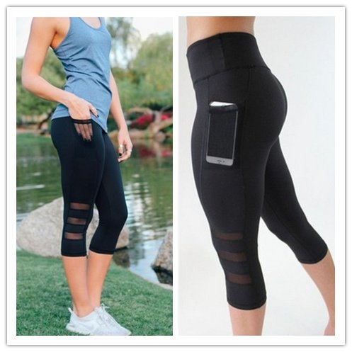 Naomi Side Phone Pocket Yoga Pants Women Sportswear Fitness Sports Leggings Fashion Running Tights for Female Summer Black - Sportswear Women