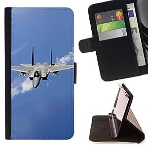 - Nature Fighter Jet - - Monedero PU titular de la tarjeta de cr????dito de cuero cubierta de la caja de la bolsa FOR Sony Xperia Z3 D6603 RetroCandy