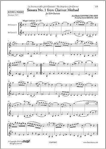 PARTITURA CLASICA - Sonata No. 1 from Clarinet Method - J.-X ...