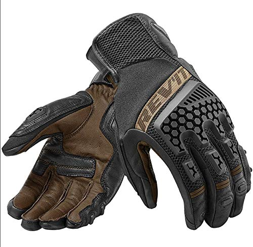 Gloves - New 2018 Revit Sand 3 Trial Motorcycle Adventure Touring Ventilated Gloves Genuine Leather Motorbike Gloves - by VIVIAN