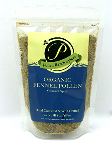 Pollen Ranch Wild crafted, Organic Fennel Pollen 8 Oz Resealable Pouch by Pollen Ranch