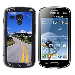 TaiTech / Prima Delgada SLIM Casa Carcasa Funda Case Bandera Cover Armor Shell PC / Aliminium - Carretera abierta - Samsung Galaxy S Duos S7562