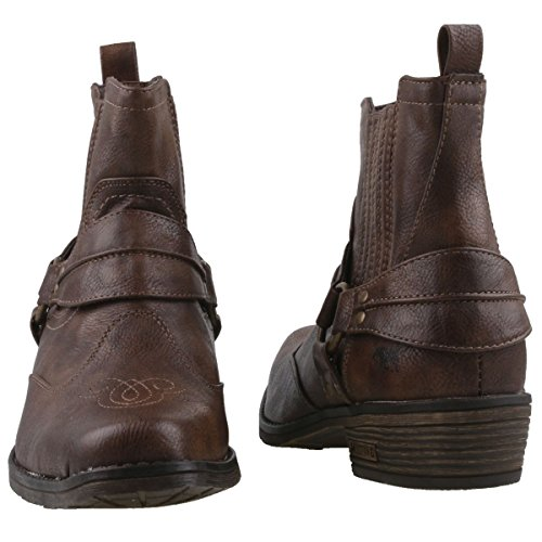 Mustang Marron Homme Stiefelette Western Santiags RwqgrRY