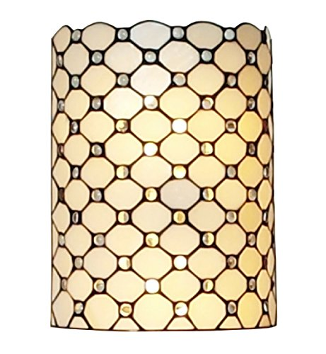 (Amora Lighting Tiffany Style AM041WL10 Wall Sconce Lamp 10 In Wide)