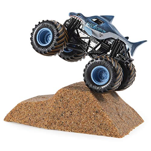 Monster Jam Megalodon Monster Dirt Starter Set, Featuring 8 Ounces of Monster Dirt & Monster ()