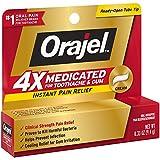 Orajel 4X for Toothache & Gum Pain: Severe Cream