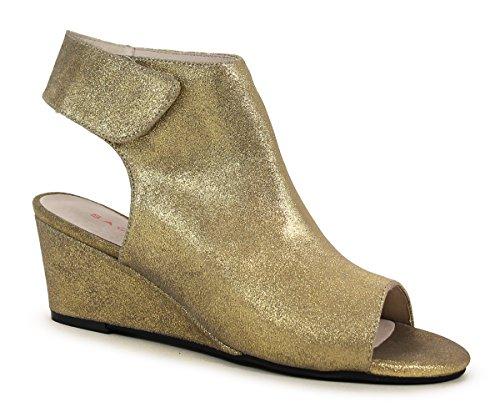 Sandal Gold London Metal Suede Sacha Vilma wqAXv4zE