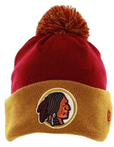 New Era Washington Redskins Vintage On Field Classic Knit Cuffed Pom Knit Cap/Beanie ()
