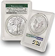 2020 Philadelphia Mint (P) Silver American Eagle Brilliant Uncirculated (First Day of Issue - Emergency Produc