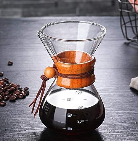 Majinz Store Cafetera clásica de Vidrio para café expreso ...