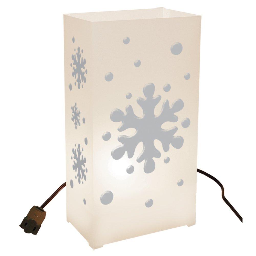 LumaBase Luminarias Electric Luminaria Kit- Snowflake- 10 Count, new