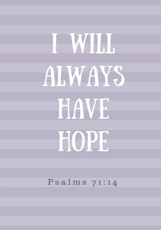I Will Always Have Hope: Prayer Journal, Notebook With Prompts, 7x10, Purple Stripes (Elite Prayer Journal) ebook