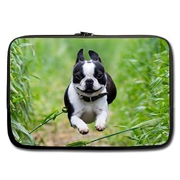 Mejor elegante Bulldog cachorro 13 inch Laptop/Ordenador portátil Manga Bolsa Bolsa Caso (dos
