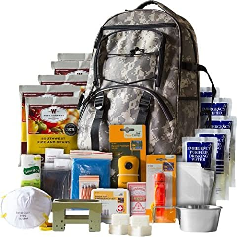 Wise Foods 5 Day Survival Backpack, Camo - 3 Day Emergency Survival Kit