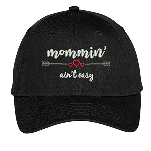 Mommin' Ain't Easy, Embroidered Baseball Cap for Moms, Gifts for New Mom, Hats for Women - Coach Embroidered Cap