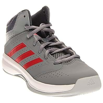 adidas Kids  Boy's Isolation 2 K (Little Kid/Big Kid) Grey/Onix/Scarlet Athletic Shoe