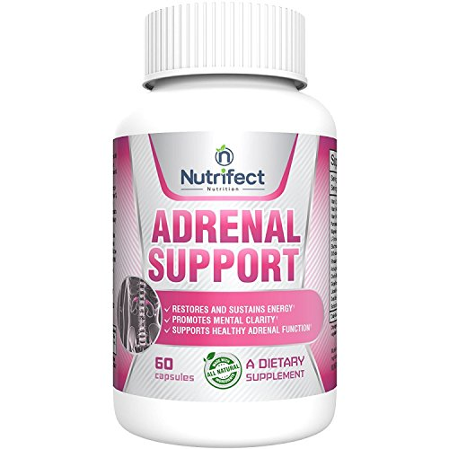 Nutrifect Nutrition Adrenal Support Supplements Keep You Sharp, Combats Stress, Anxiety, and Fatigue, Includes Vitamins B6, B12, Ashwagandha, Magnesium, 60 Capsules Licorice Root Adrenal Fatigue