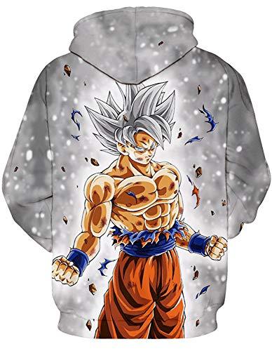 Amoma Sweat Dragon Capuche Grey Saiyan Homme À Ball shirt Rrwdar