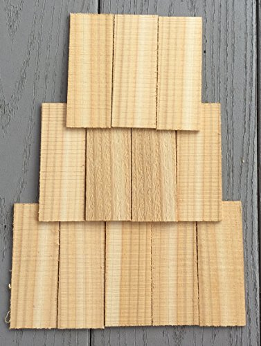 CEDAR ROOFING for BIRD HOUSES / Shake Shingles for Birdhouse, Dollhouse / Craft Supplies/ Scrap Booking / 50 Piece Set
