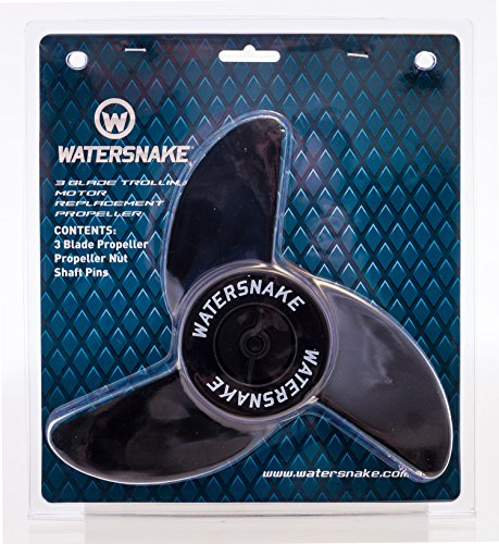 Watersnake 12-Volt 3-Bladed Propeller Kit (Black, 23-inch) -