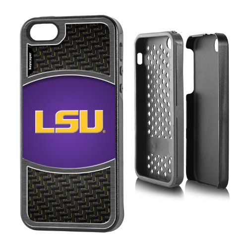Louisiana State Tigers iPhone 5 & iPhone 5s Rugged Case officially licensed by Louisiana State University for the Apple iPhone 5/5s by keyscaper® Durable Two Layer Protection Shock (Louisiana State Tigers Sport Watch)