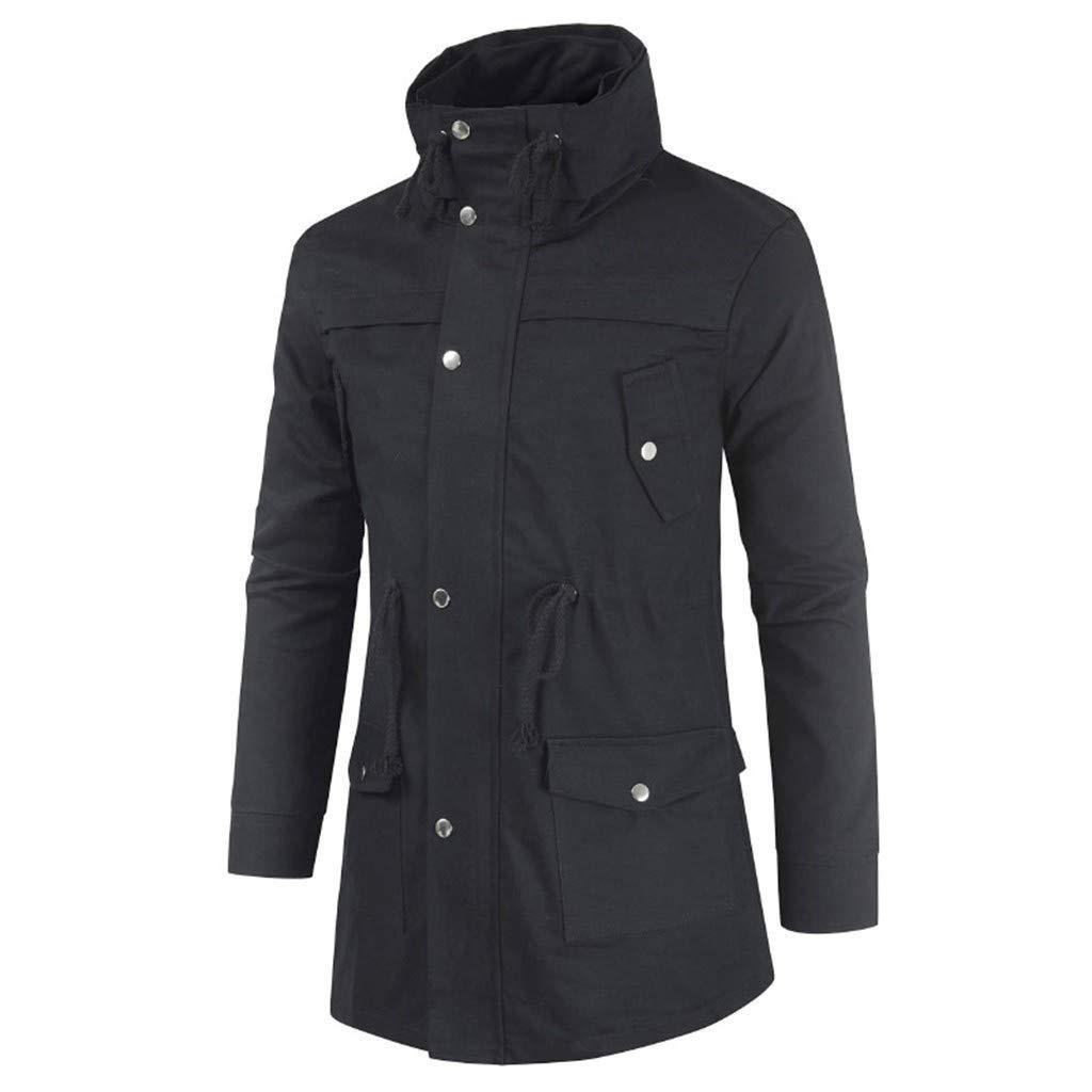kemilove Men's Long Jacket Jacket for Leisure Fashion Simple Comfortable Coat Sunsee 2019 New Gift Suit Black