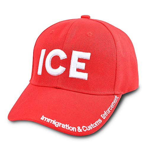 ICE Hat Immigration Customs Enforcement Baseball Cap Embroidered 6 Panel Hat