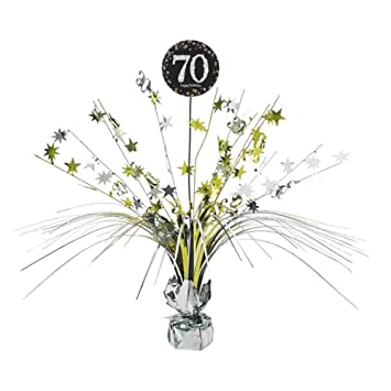 70th Birthday Spray Centrepiece Table Decoration