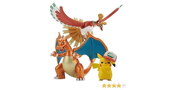 Bandai Pokemon Plastic Model Collection HOUO /& RIZEDON /& SATOSHI/'s Pikachu Set