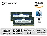 Timetec Hynix IC Apple 16GB Kit (2x8GB) DDR3 PC3-8500 1066MHz memory upgrade for MacBook 13-inch Mid 2010, MacBook Pro 13-inch Mid 2010, iMac 27-inch Late 2009, Mac Mini Mid 2010/Server