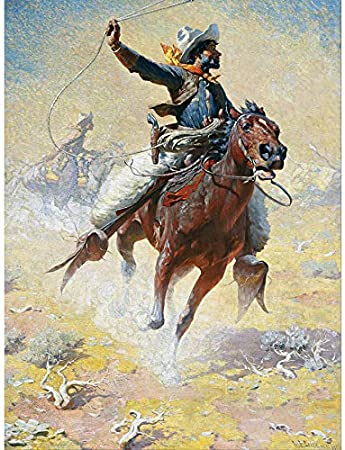 Wallpaper Mural Ropin Western Cowboy and Horse