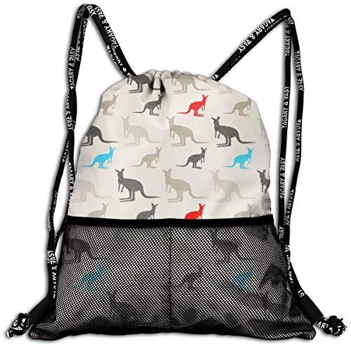 Australia Kangaroos - Multipurpose Shoulders Bag Gift, Casual School Bookbag, Outdoor Travel Daypack for Adult Womens Mens (Outdoor Australia Furniture Cheap)