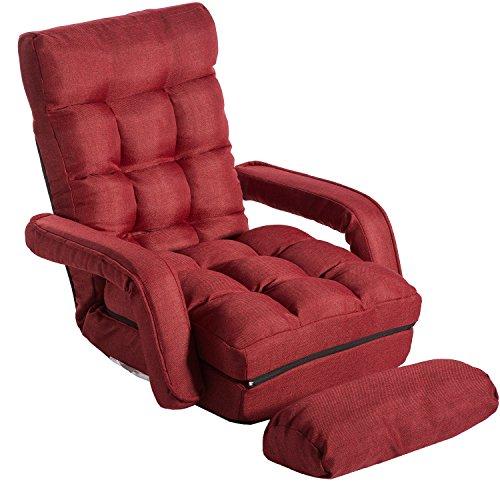 Merax Folding Lazy Sofa Floor Chair Sofa Lounger Bed with
