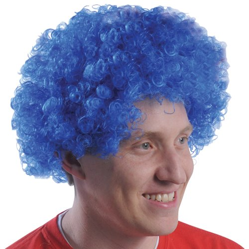 (DollarItemDirect Blue Team Spirit Afro Wig , Sold by 20 Pieces)