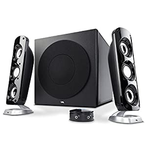 Cyber Acoustics Most Thunderous 2.1 Subwoofer Speaker System with 92W of Power – Perfect for Gaming, Movies, Music, or any Multimedia Use (CA-3908)