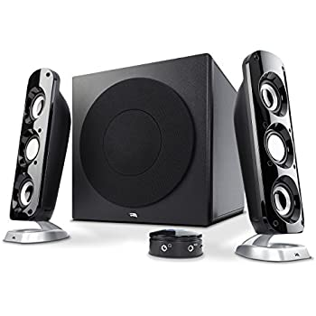 Cyber Acoustics 92W Powerful Computer Speakers with Subwoofer, a thunderous 2.1 Gaming Speaker system for Movies, Music, or any Multimedia play (CA-3908)