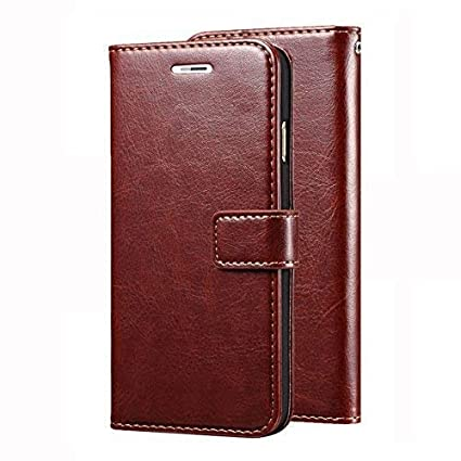 promo code d090e d5b62 like it grab it Leather Dairy Flip Case Stand with Magnetic Closure and  Card Holder for Redmi Note 7 Pro (Brown)
