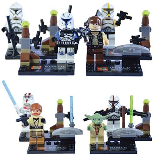 8-minifiguras-de-Star-Wars-Compatible-con-LEGO-Incluye-Obi-Wan-Kenobi-Han-Solo-Maestro-Yoda-y-5-personajes-ms