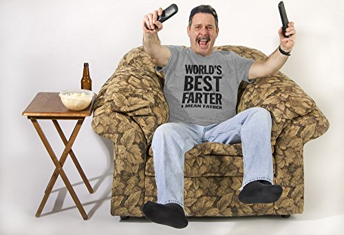 World's Best Farter, I Mean Father Funny Gift for Dad Men's T-Shirt X-Large Gray by Tstars (Image #4)