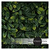 Milltown Merchants Artificial Hedge - Outdoor Artificial Plant - Great Boxwood and Ivy Substitute - Sound Diffuser Privacy Fence Hedge - Topiary Greenery Panels (4, Laurel)