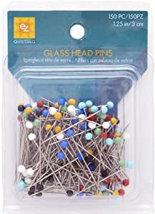 Wrights 881426 Glass Head Multicolor Pins, 150-Pack