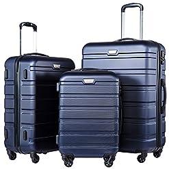 Travel Junkie 51aJO5ug-oL._SS247_ COOLIFE Luggage 3 Piece Set Suitcase Spinner Hardshell Lightweight TSA Lock 4 Piece Set