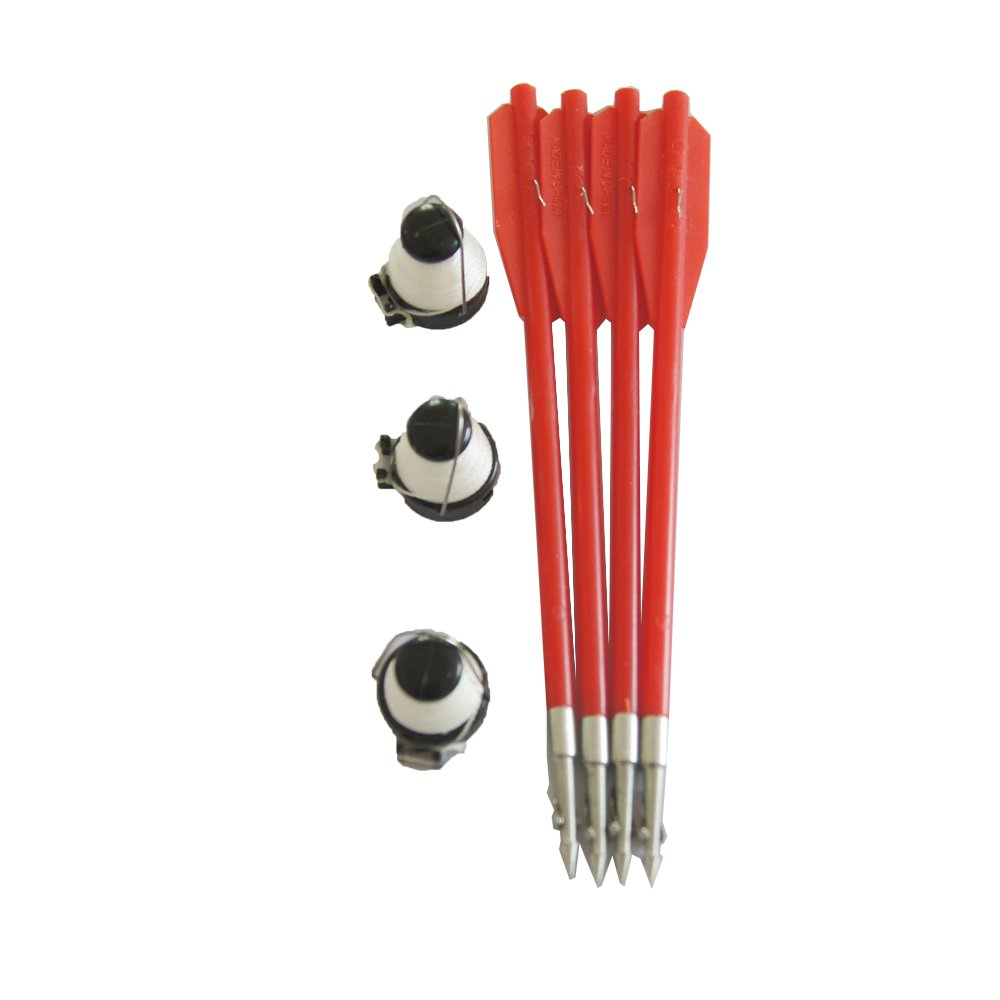 1 pack of 4 Fishing Bolts For 50 to 130 Pounds Crossbow with 3 Fishing Line Red Color jiexi hwyp