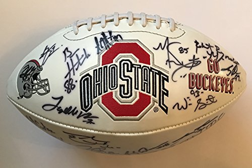 2002 Ohio State Buckeyes Team Signed football w/ Will Smith National - 2002 State Buckeyes Ohio Football
