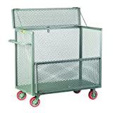 Little Giant SB-3060-6PY Visible Security Box Truck with Hinged Top Cover, 3600 lbs Load Capacity, 47'' Height x 30'' Width x 60'' Length