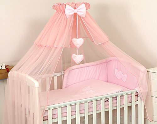 LUXURY BABY COT/ BED CANOPY DRAPE-BIG 480cm COVERS 4 SIDES- Holder not included(Pink) Pro Cosmo