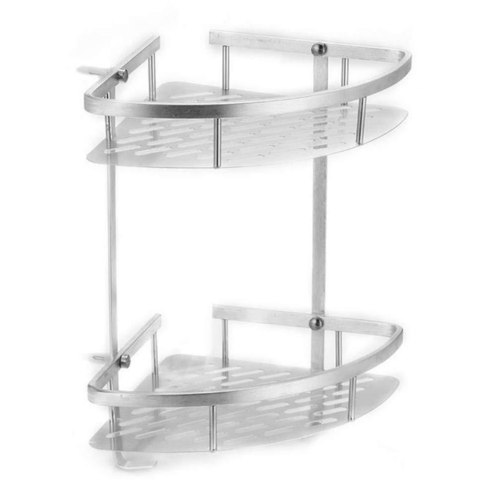Doccia Mensola Porta Shampoo 2 Y 3 Niveles Estantes De Almacenamiento De Esquina Estantes Ba/ño Champ/ú Ducha Cocina Almacenamiento Rack Organizador Conjuntos De Accesorios De Ba/ño 3 niveles